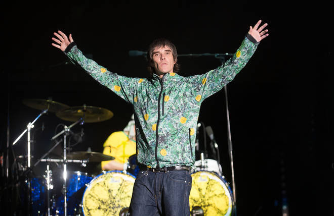 Ian Brown of The Stone Roses headlines The Virgin Media Stage on day 1 of the V Festival at Hylands Park on August 18, 2012