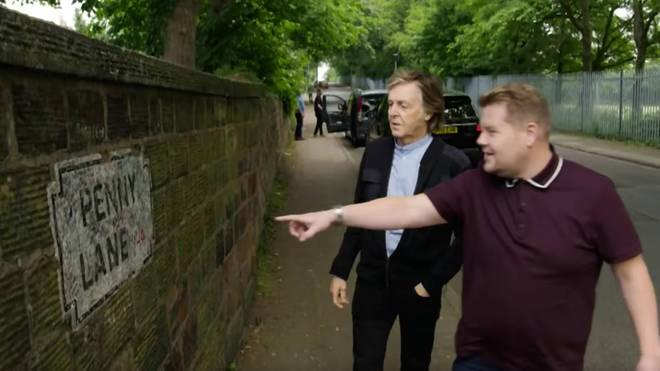Paul McCartney and James Corden visit Penny Lane in Carpool Karaoke
