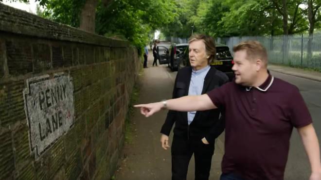 Paul McCartney and James Corden visit Penny Lane in Carpool Karaoke