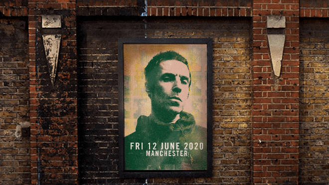 Liam Gallagher posters appear in Manchester with date Friday 12 June 2020