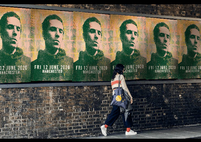 Liam Gallagher billboards in Manchester, November 2019