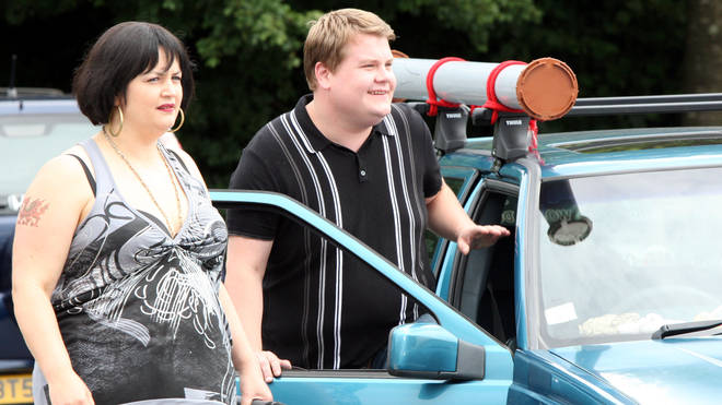 James Corden and Ruth Jones as Smithy and Nessa in Gavin and Stacey