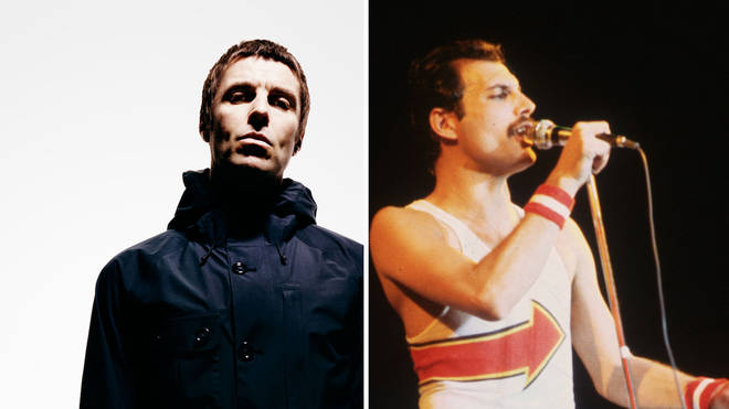 Liam Gallagher and Freddie Mercury