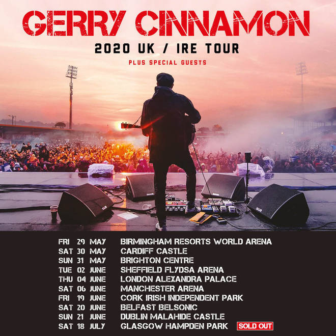 Gerry Cinnamon 2020 Tour Dates