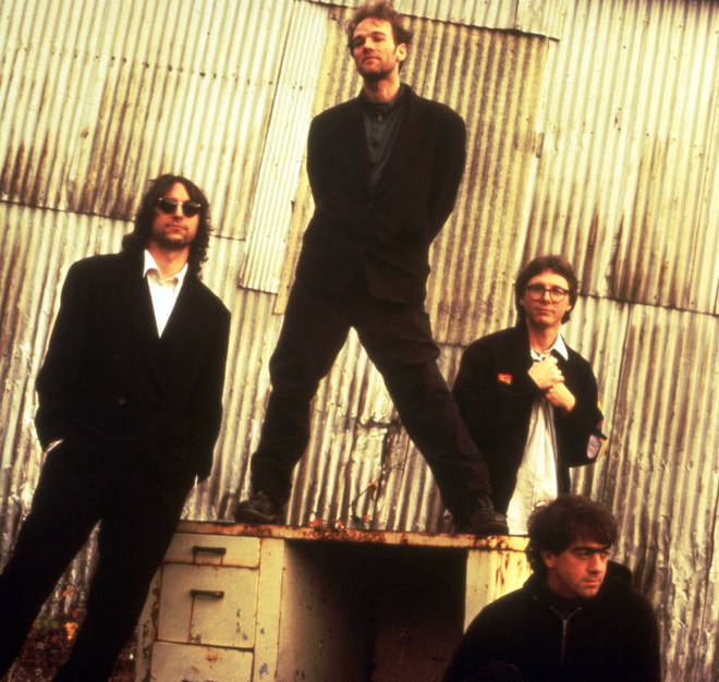 R.E.M. in 1991: Peter Buck, Michael Stipe, Mike Mills and Bill Berry